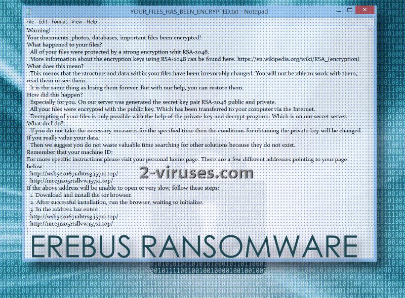De Erebus ransomware