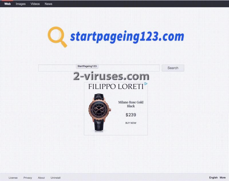 Startpageing123.com virus hijacker remove