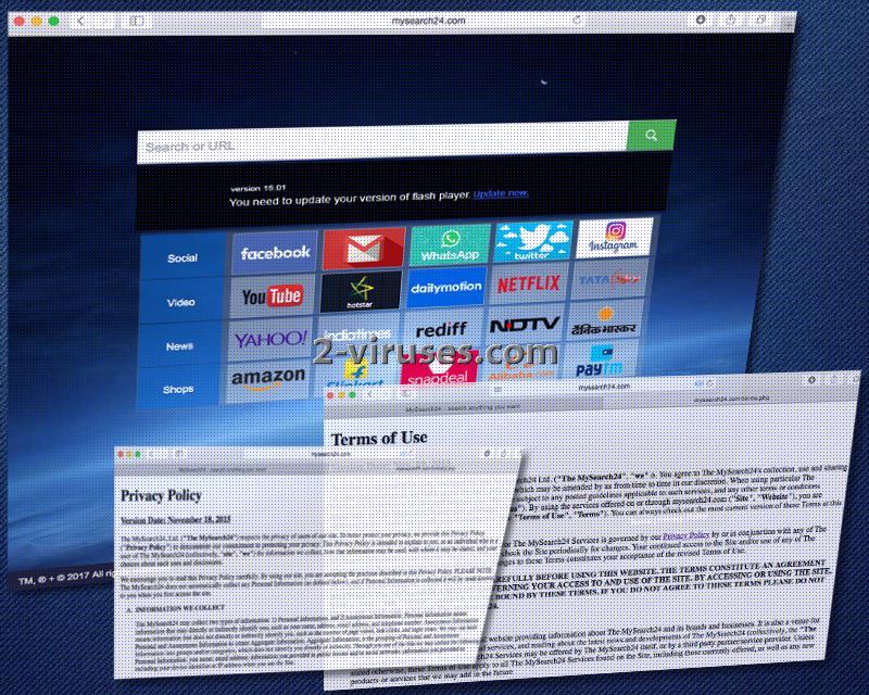 Mysearch24.com browser hijacker