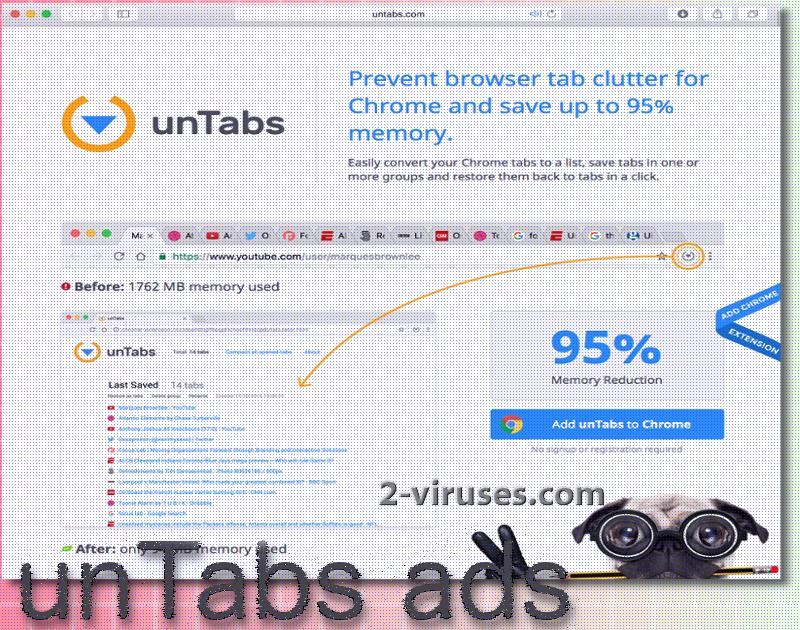 unTabs ads virus