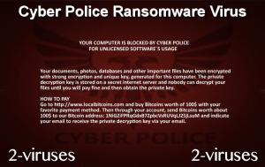 Cyber Police Ransomware Virus